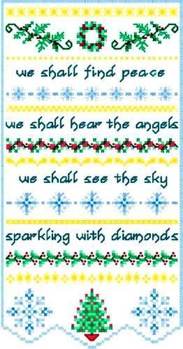 cross stitch pattern Christmas Peace