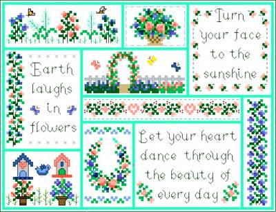 cross stitch pattern Summertime