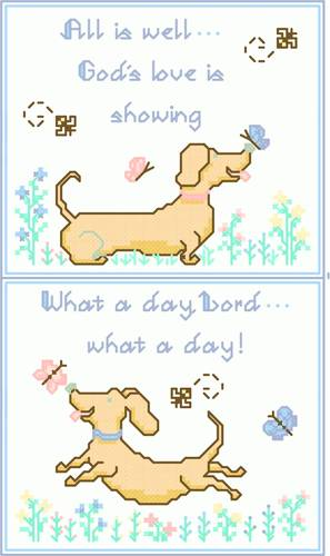 cross stitch pattern Happy Dogs