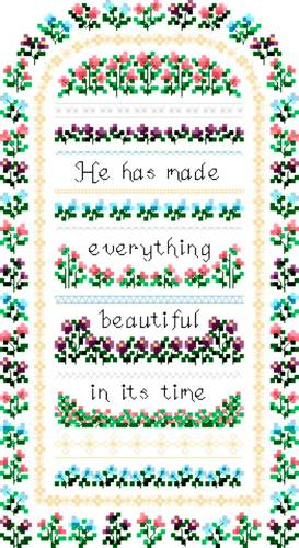 cross stitch pattern Everything Beautiful