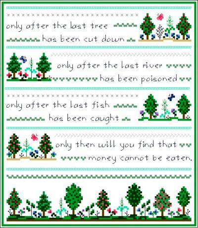 cross stitch pattern Green Earth