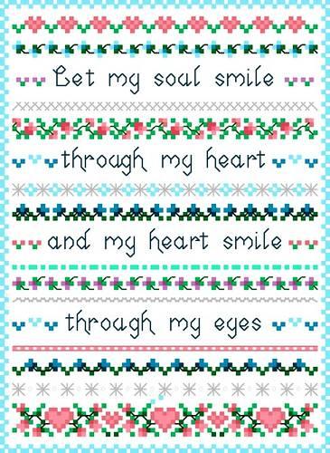 cross stitch pattern Heart's Smile