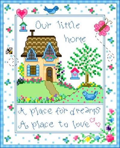 cross stitch pattern Little Home