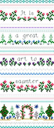 cross stitch pattern Saunter