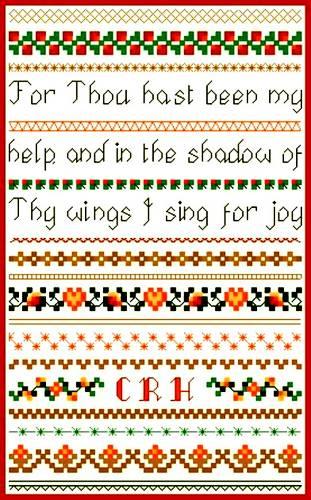 cross stitch pattern Sing for Joy