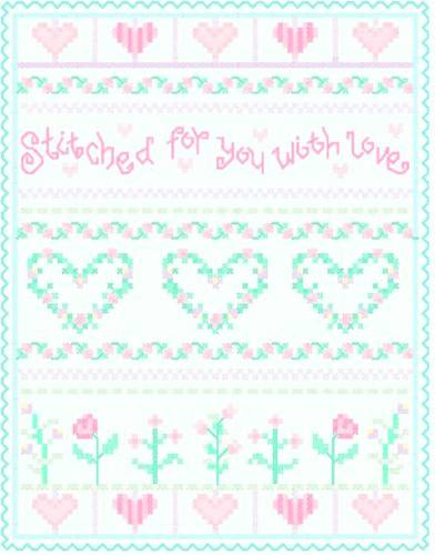 cross stitch pattern Stitched with Love