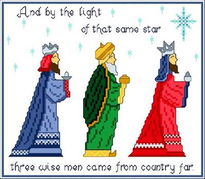 cross stitch pattern Three Wise Men