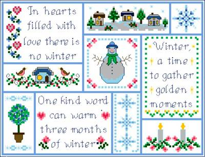 cross stitch pattern Wintertime