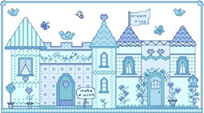 cross stitch pattern Dream Time Town