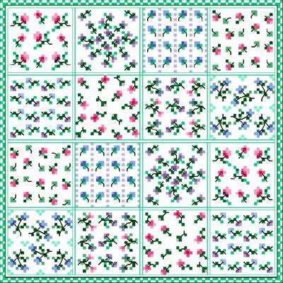 cross stitch pattern Flower Patch