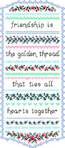 cross stitch pattern Friendship