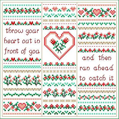 cross stitch pattern Hearts Dreams