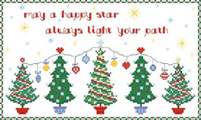 cross stitch pattern Happy Star