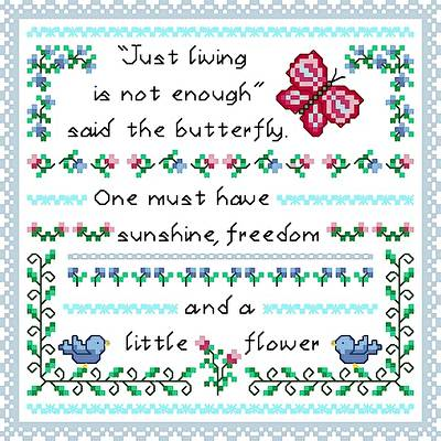 cross stitch pattern Little Flower