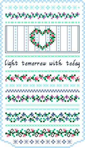 cross stitch pattern Light Tomorrow