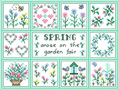 cross stitch pattern Spring