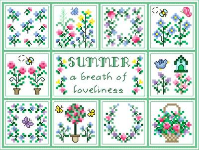 cross stitch pattern Summer