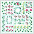 cross stitch pattern Spring Quilt Square
