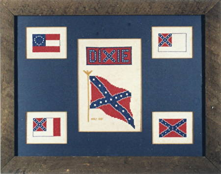cross stitch pattern Confederate Flag