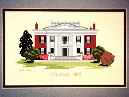 cross stitch pattern Melrose mansion 1845