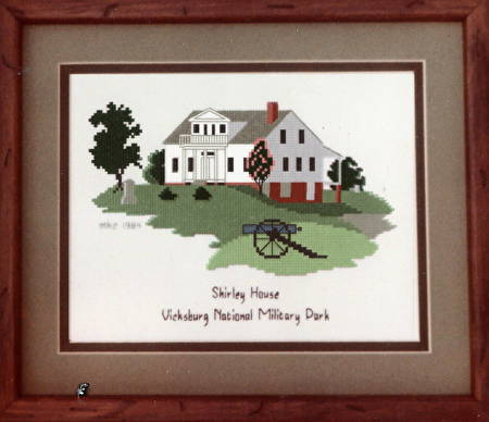 cross stitch pattern Shirley House Vicksburg