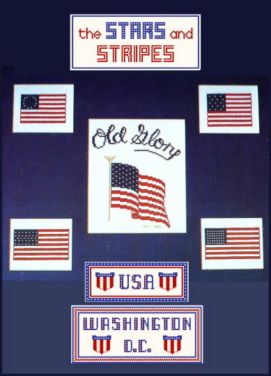 cross stitch pattern Stars and Stripes