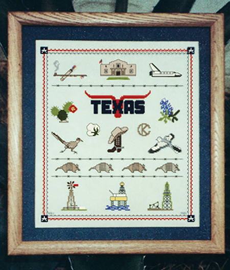 cross stitch pattern Texas Sampler