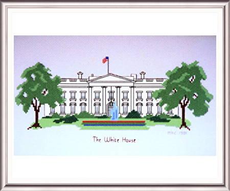 cross stitch pattern The Whitehouse