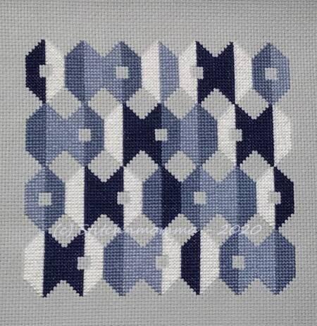 cross stitch pattern Blueberry Cheesecake