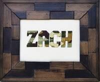cross stitch pattern Green Camo Alphabet