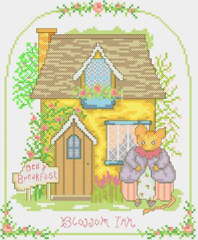 cross stitch pattern Blossom Inn