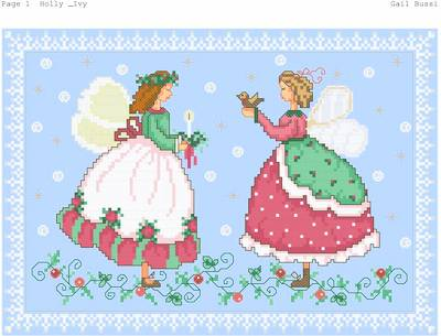 cross stitch pattern Crystal Angels