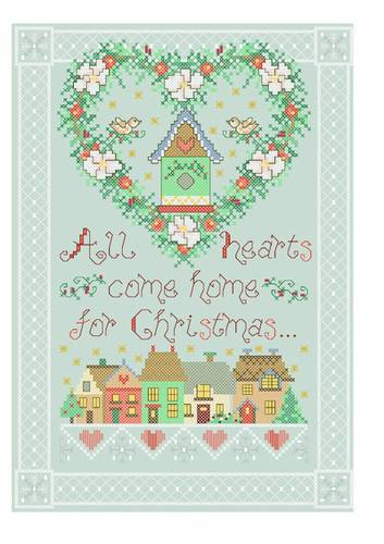 cross stitch pattern Heart of Christmas