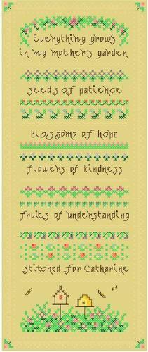cross stitch pattern Mother's Garden