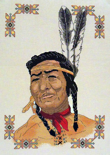cross stitch pattern Native American