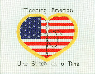 cross stitch pattern Mending America