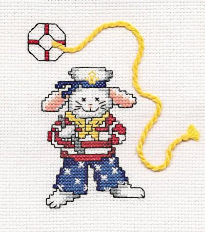 cross stitch pattern Sailor Bunny