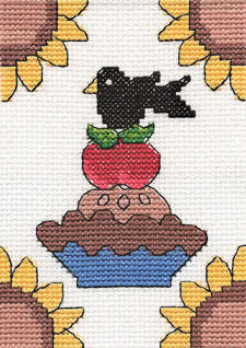 cross stitch pattern Apple Pie Picture