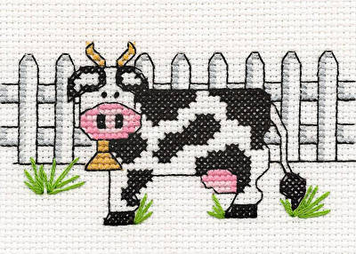 cross stitch pattern Country Cow