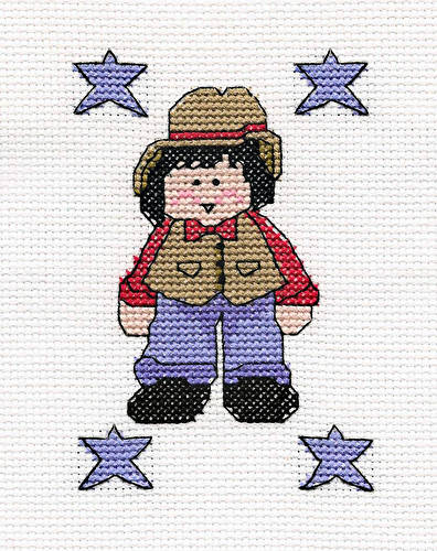 cross stitch pattern Denim Boy
