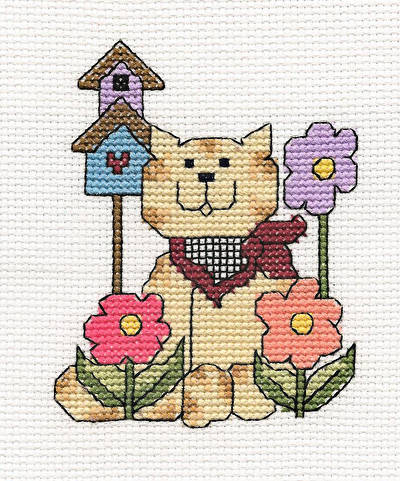 cross stitch pattern Bandana Kitty