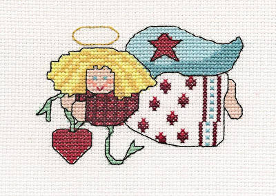 cross stitch pattern Country Angel