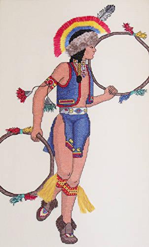 cross stitch pattern Hoop Dancer