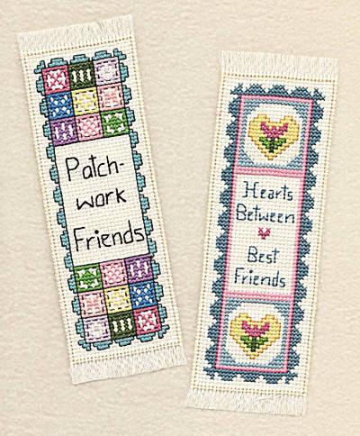cross stitch pattern Friends Bookmarks