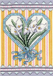 cross stitch pattern Victorian Calla Lillies