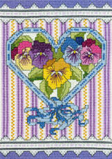 cross stitch pattern Victorian Pansies