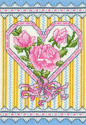 cross stitch pattern Victorian Rose