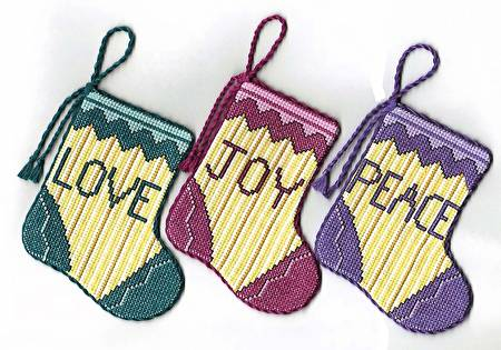 cross stitch pattern Victorian Stocking Ornaments