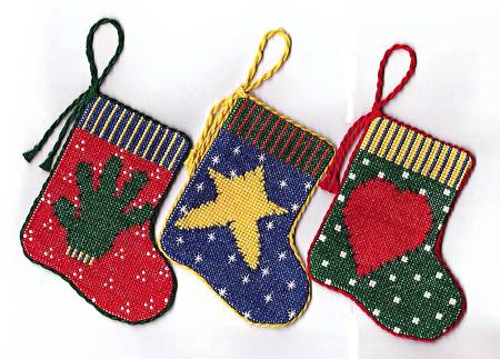 cross stitch pattern Folkart Stocking Ornaments