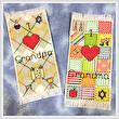 cross stitch pattern Zayde/Bubbe (Grandpa/Grandma) Bookmarks